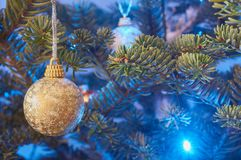 Beautiful Christmas tree and decoration Royalty Free Stock Image