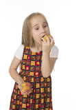 Beautifu girl with peaches Stock Images