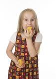 Beautifu girl with peaches Royalty Free Stock Photos