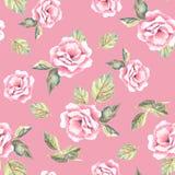 Beautifu hand-drog blommor Blom- sömlös modell 24 Arkivbild