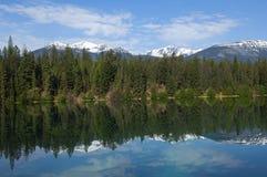Beautifu lake. Banff Alberta,Canada. Mountains reflected in the beautifu lake. Banff Alberta,Canada Stock Photo