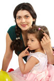 Beautifu mother and daughter Stock Images