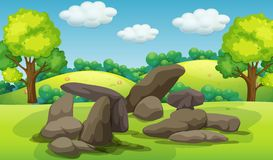 A beautifu stone in nature Royalty Free Illustration