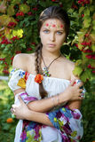 Beautifu ukrainian girl in traditional dress Stock Photography