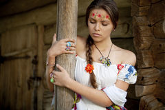 Beautifu ukrainian girl in traditional dress Stock Photo