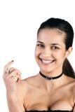 Beautifu woman on white Stock Images