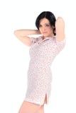 Beautifu woman on white Royalty Free Stock Image
