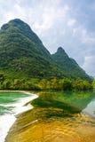 Beautifu Yulong River Scenery. In Yangshuo, Guilin, China royalty free stock photography