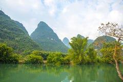 Beautifu Yulong River Scenery. In Yangshuo, Guilin, China royalty free stock photo