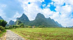 Beautifu Yulong River Scenery. In Yangshuo, Guilin, China stock photo