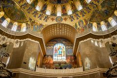 Beautifulï ¿ ½ ornamentacyjny wnętrze katedra Fotografia Stock