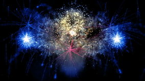 2016_beautiful έκρηξη πυροτεχνημάτων απόθεμα βίντεο