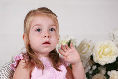 Beautiful 2 year old girl stock image