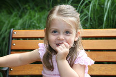 Beautiful 2 year old girl royalty free stock image