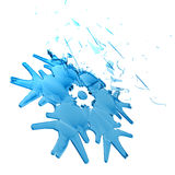 Beautiful 3D snowflake Stock Image