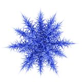 Beautiful 3d snowflake. Royalty Free Stock Photo
