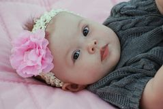 Beautiful 5 month old baby girl Royalty Free Stock Photography