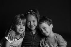 Beautiful. A beautiful portrait of three siblings or friends Royalty Free Stock Image