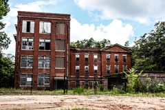 Abandoned Building in Columbia, South Carolina. Beautiful Abandoned Building in Columbia, South Carolina royalty free stock photo