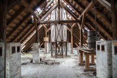 Beautiful abandoned old roof Stock Image