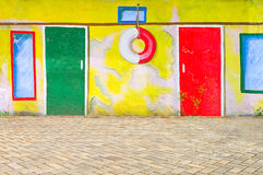Beautiful abstract art background wall on the street with graffi Royalty Free Stock Photography