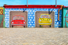 Beautiful abstract art background wall on the street with graffiti Royalty Free Stock Photography