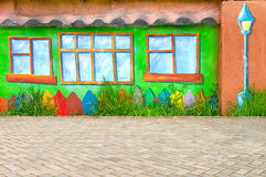Beautiful abstract art background wall on the street with graffiti. Pattern colorfull home in the city royalty free stock photos