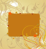 A beautiful abstract autumn banner. A beautiful abstract autumn banner vector Royalty Free Stock Photos