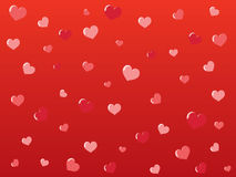 Beautiful abstract background. Of hearts Stock Photography