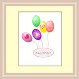 Beautiful abstract  background with balloons Happy Birthday. Abstract background frame border with balloons Happy Birthday Stock Photos