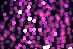 Background of a bokeh garland Royalty Free Stock Image