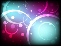Beautiful abstract background with dots and circles with amazing colors Stock Photography
