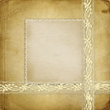 Beautiful abstract background with gold lace Royalty Free Stock Image