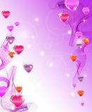 Beautiful abstract background with hearts Stock Photos