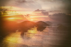 Beautiful abstract background with patches of sunlight, sunset o Stock Photography