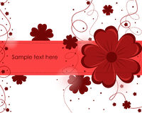 Beautiful abstract background with red flowers. On a white background royalty free illustration