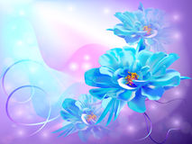 Beautiful Abstract Background With Flowers Stock Image