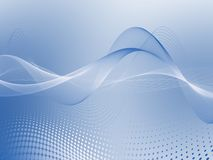 Abstract Blue Soft Wave Background. Beautiful Abstract Blue Soft Wave Background royalty free stock photos