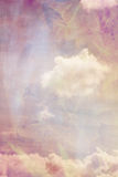 Beautiful, abstract blurred background with pink clouds. Beautiful, abstract blurred background with clouds and flowers Vector Illustration