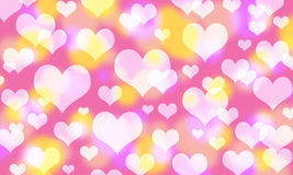 Beautiful Abstract Bokeh Background For Valentine Day Stock Image