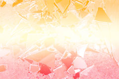 Beautiful abstract broken glass design background Royalty Free Stock Photography