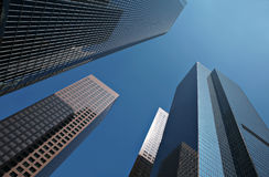Beautiful Abstract Building Skyline stock images