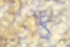 Beautiful abstract Christmas background of holiday lights stock image
