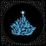 Beautiful abstract Christmas tree Stock Photo