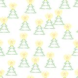 Beautiful abstract Christmas tree. Seamless pattern with beautiful abstract Christmas tree Stock Images