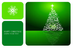 Beautiful abstract Christmas vector background Stock Photo