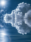 Beautiful abstract cloudscape background. Beautiful abstract cloudscape above water Royalty Free Stock Photos