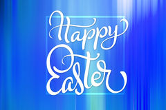 Beautiful abstract colorful background wallpaper and text Happy Easter. Calligraphy lettering.  Stock Photo