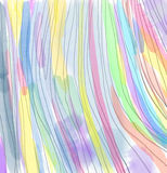 Beautiful abstract colorful watercolor pattern with stripes. Stock Photography