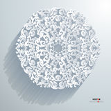 Beautiful Abstract 3D Design. Best Background Abstract 3D Design white Stock Image